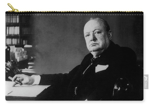 Portrait Of Winston Churchill  Carry-all Pouch