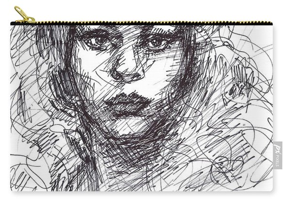 Portrait Sketch  Carry-all Pouch