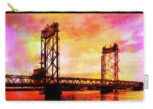 Portsmouth Memorial Bridge Abstract At Sunset Carry-all Pouch