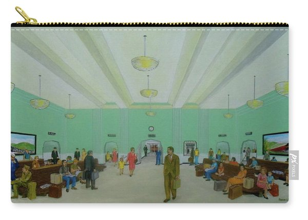 Portsmouth Ohio Train Station Interior 1940s Carry-all Pouch