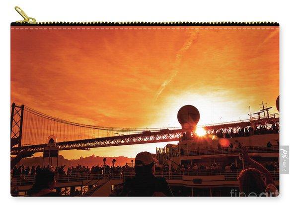 Sunset Under The 25 April Bridge Lisbon Carry-all Pouch