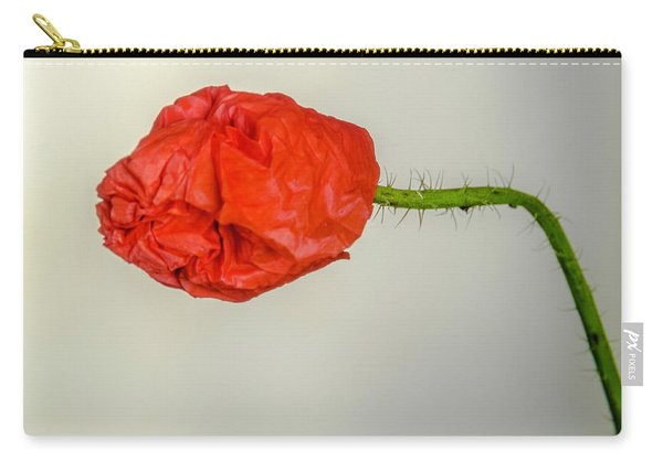 Posing Fire Red Poppy Carry-all Pouch