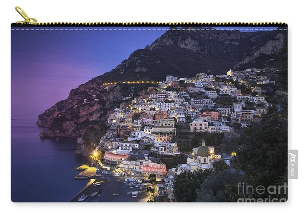 Carry-all Pouch featuring the photograph Positano Twilight by Brian Jannsen