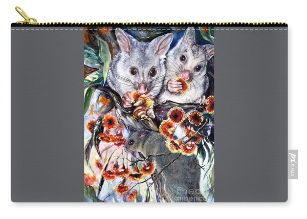 Possum Family Carry-all Pouch
