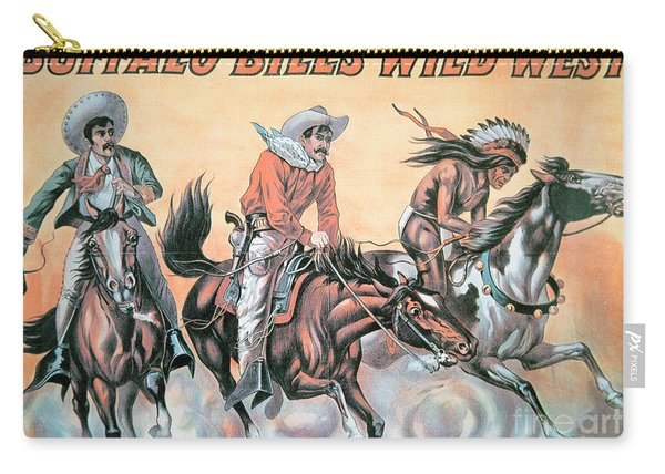 Poster For Buffalo Bill's Wild West Show Carry-all Pouch