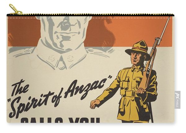Poster The Spirit Of Anzac Calls You Late 1939  Early 1940 Wellington By Whitcombe And Tombs Lim Carry-all Pouch