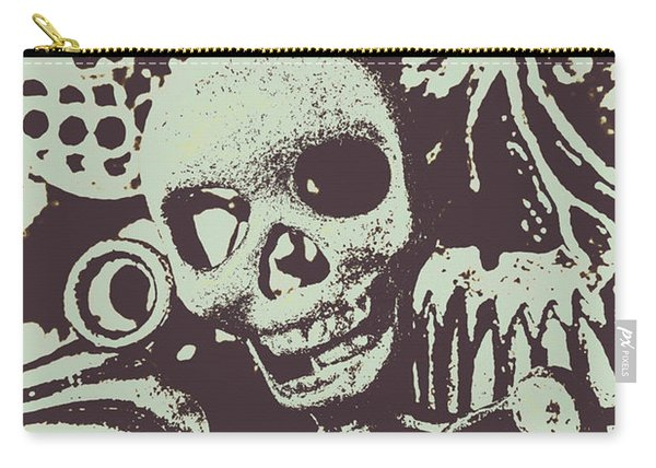 Posterized Skull Art Carry-all Pouch