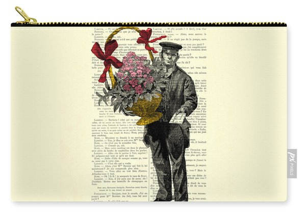Postman Delivering Bouquet Of Flowers Carry-all Pouch