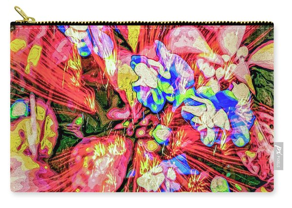 Carry-all Pouch featuring the digital art Pot Pourri by Eleni Mac Synodinos