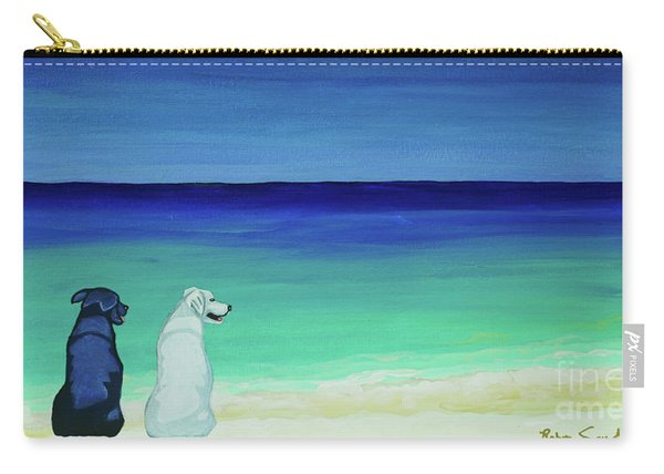 Lab Potcake Dogs On The Beach Carry-all Pouch