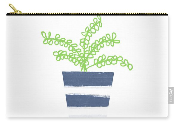 Potted Plant 1- Art By Linda Woods Carry-all Pouch