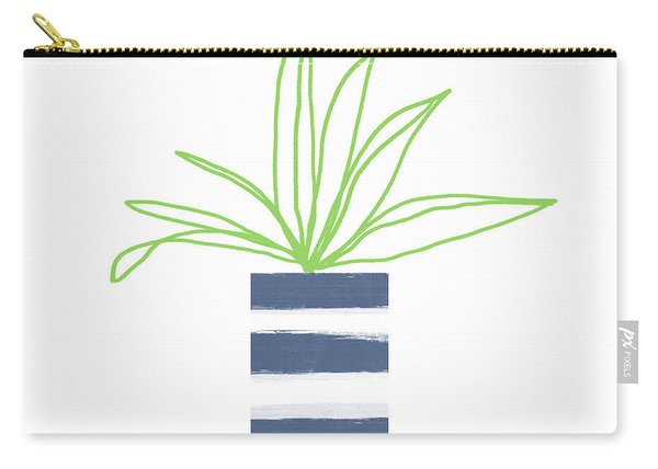 Potted Plant 2- Art By Linda Woods Carry-all Pouch