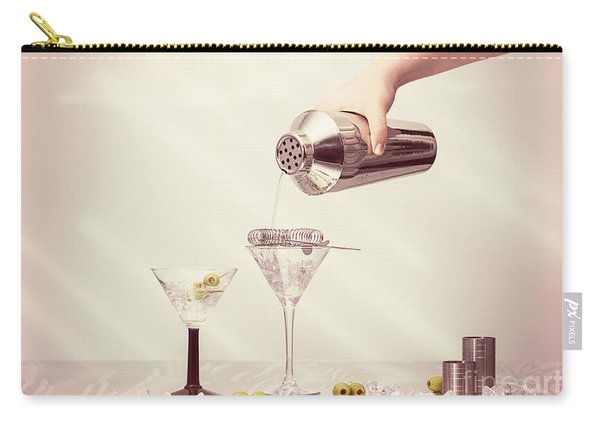 Pouring A Martini Carry-all Pouch