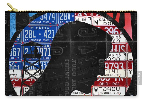 Pow Mia You Are Not Forgotten Recycled Vintage American License Plate Art Carry-all Pouch