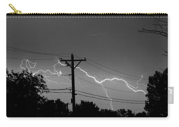 Power Lines Bw Fine Art Photo Print Carry-all Pouch