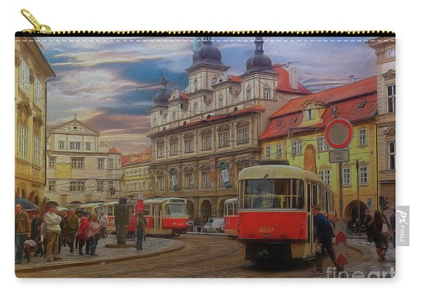 Prague, Old Town, Street Scene Carry-all Pouch