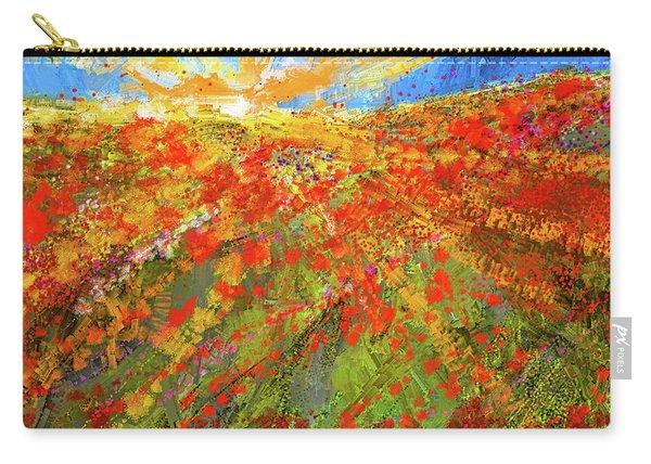 Prairie Sunrise - Poppies Art Carry-all Pouch