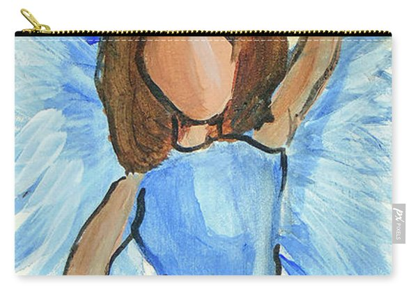 Carry-all Pouch featuring the painting Praising Angel by Loretta Nash