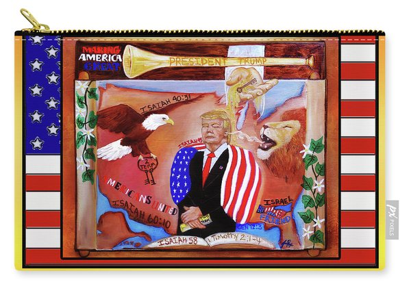 Pray For President Trump Carry-all Pouch