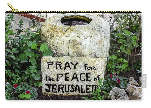 Pray For The Peace Of Jerusalem Carry-all Pouch