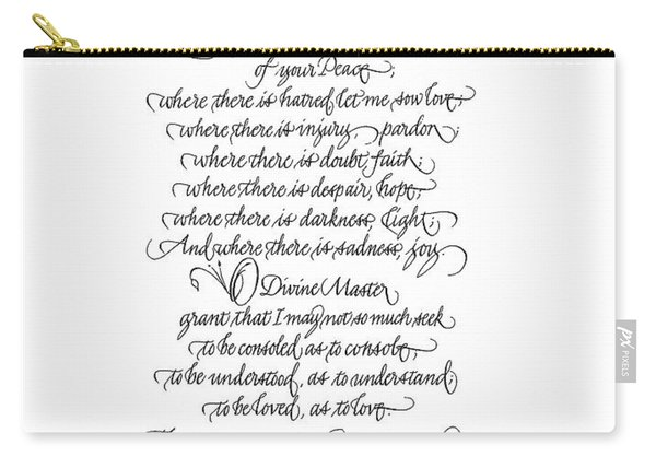 Prayer Of St. Francis Of Assisi Carry-all Pouch