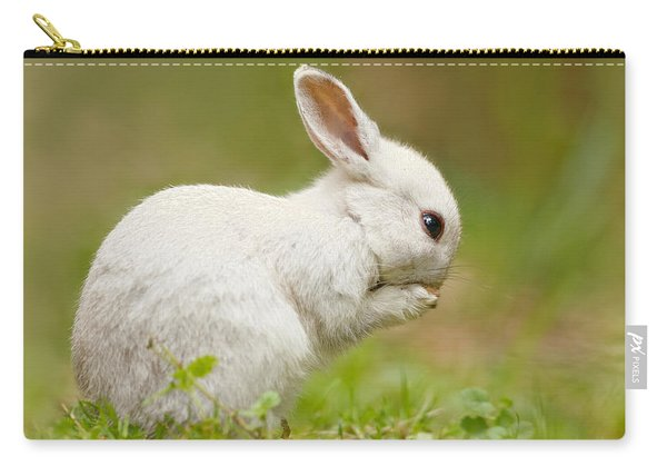 Praying White Rabbit Carry-all Pouch