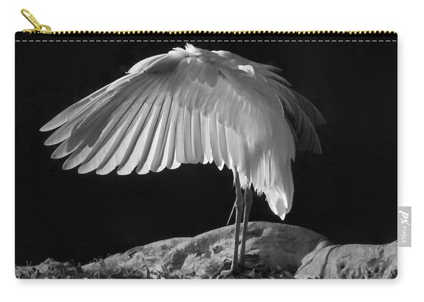 Preening Great Egret By H H Photography Of Florida Carry-all Pouch