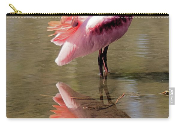 Preening Spoonbill Carry-all Pouch