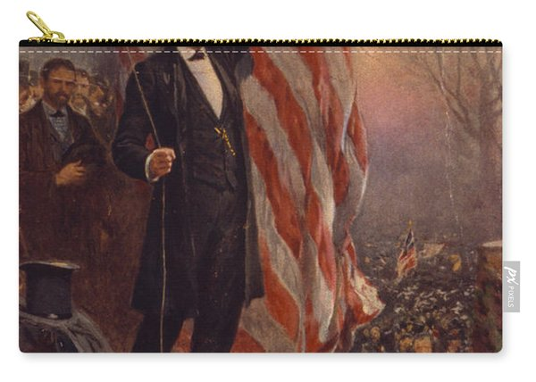 President Abraham Lincoln Giving A Speech Carry-all Pouch