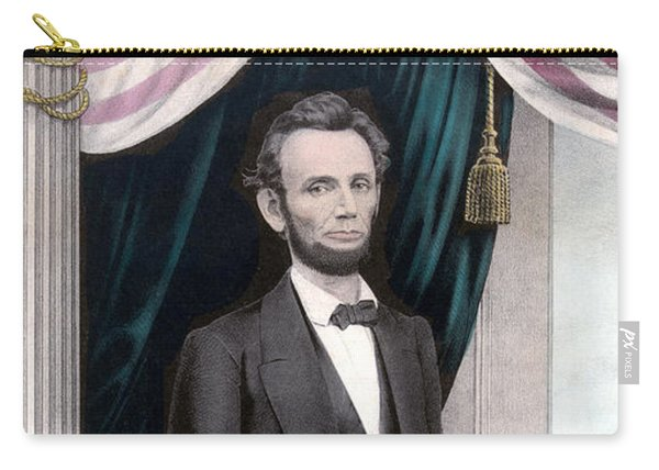 President Abraham Lincoln In Color Carry-all Pouch