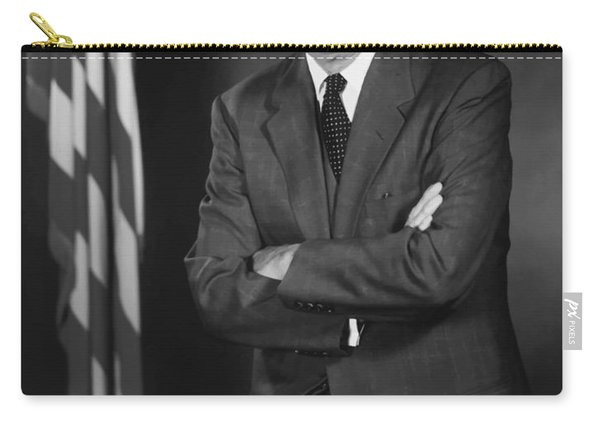 President Eisenhower And The U.s. Flag Carry-all Pouch