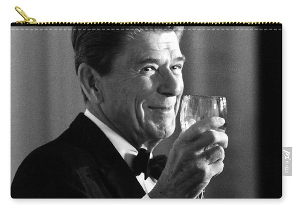 President Reagan Making A Toast Carry-all Pouch