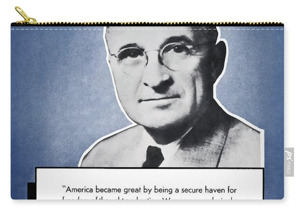President Truman Speaking For America Carry-all Pouch