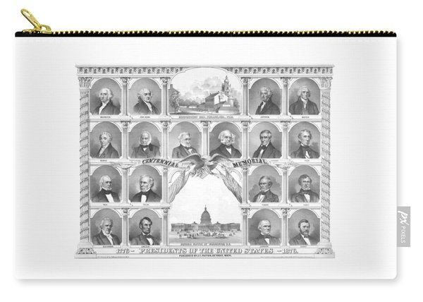 Presidents Of The United States 1776-1876 Carry-all Pouch
