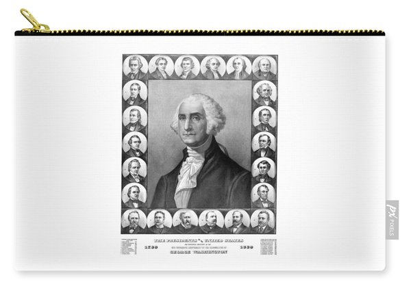 Presidents Of The United States 1789-1889 Carry-all Pouch