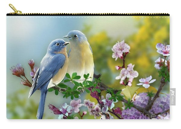 Pretty Blue Birds Carry-all Pouch