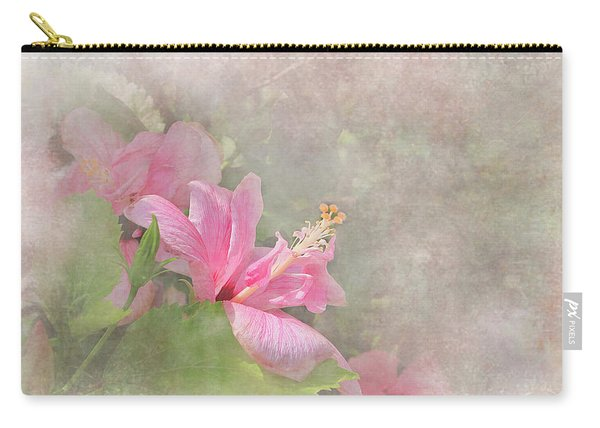 Pretty Pink Hibiscus Carry-all Pouch