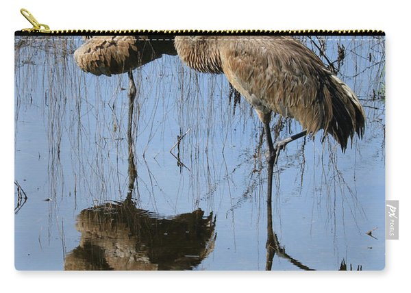 Pretty Sandhill Pair In Pond Carry-all Pouch