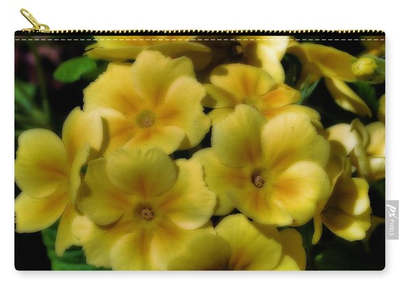 Pretty Yellow Primrose Carry-all Pouch