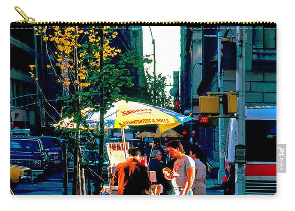 Hot Dog Stand Nyc Late Afternoon Ik Carry-all Pouch