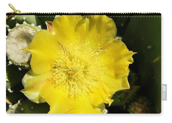 Prickly Pear And The Bee Carry-all Pouch