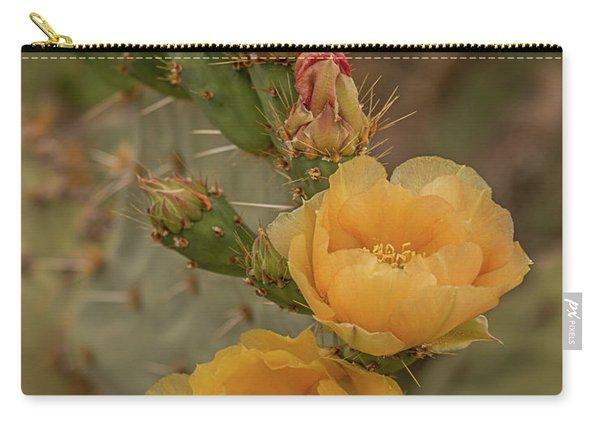 Prickly Pear Blossom Trio Carry-all Pouch