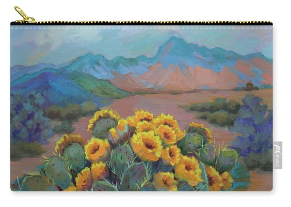 Prickly Pear In The Desert Carry-all Pouch