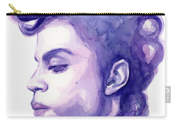 Prince Musician Watercolor Portrait Carry-all Pouch