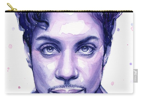 Prince Purple Watercolor Carry-all Pouch