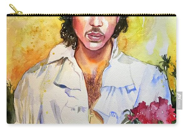 Prince Rogers Nelson Holding A Rose Carry-all Pouch