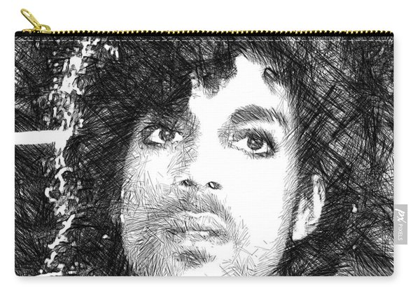 Prince - Tribute Sketch In Black And White 3 Carry-all Pouch