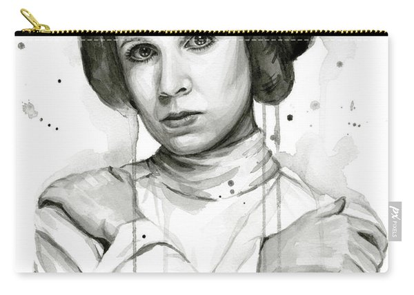 Princess Leia Portrait Carrie Fisher Art Carry-all Pouch