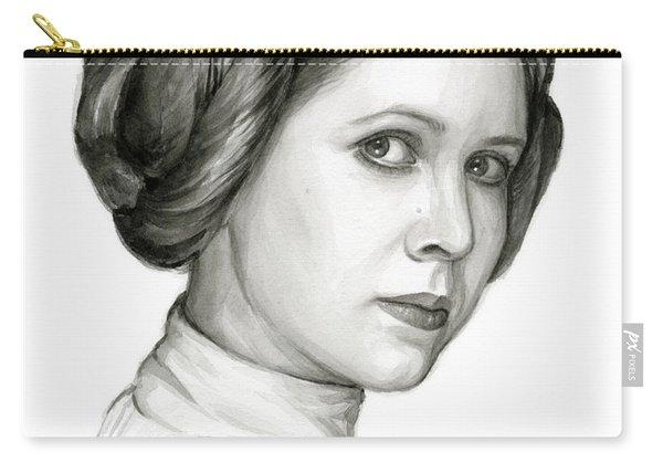 Princess Leia Watercolor Portrait Carry-all Pouch