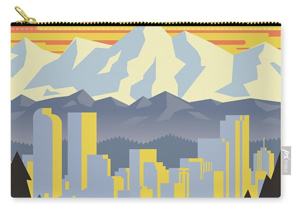 Denver Poster - Vintage Travel Carry-all Pouch
